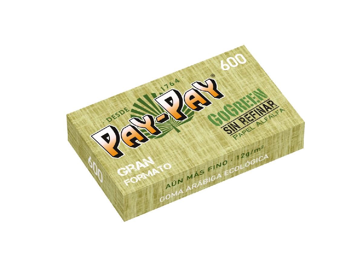 נייר אחד ורבע ירוק 600 - ניירות גלגול פיי פיי