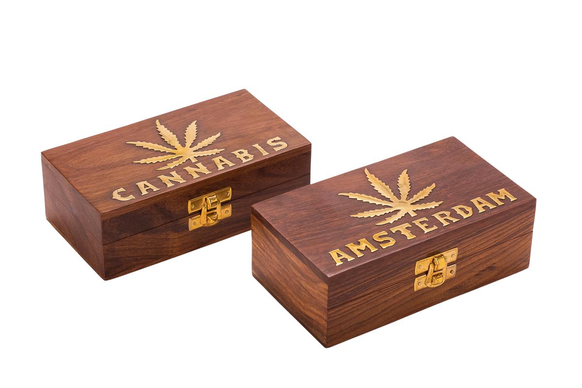 קופסאת אחסון מעץ CANNABIS WD-86