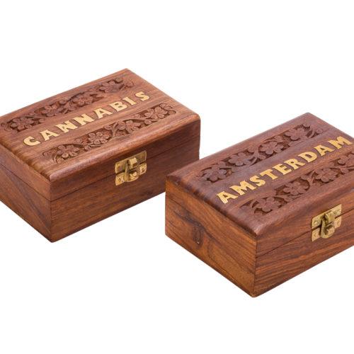 קופסאת אחסון מעץ CANNABIS WD-90