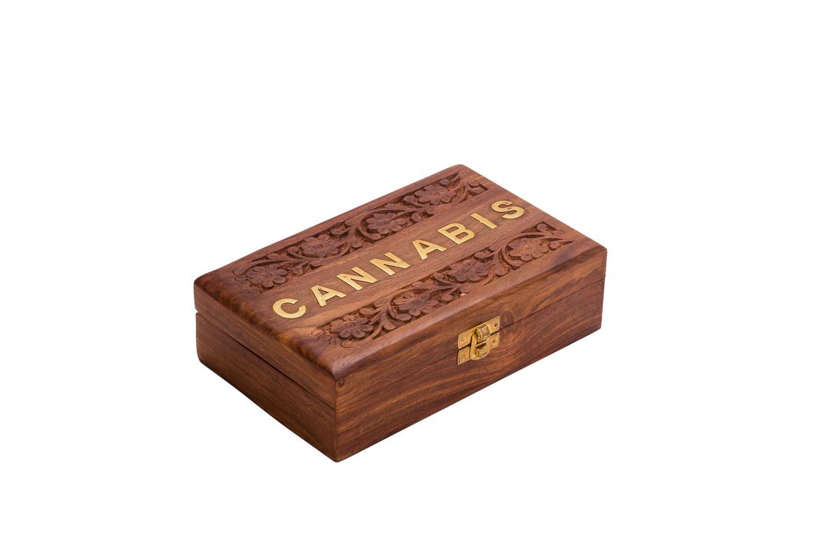 קופסאת אחסון מעץ CANNABIS WD-92